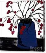 Berry Twigs In A Vase Canvas Print
