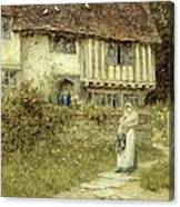 Beside The Old Church Gate Farm Smarden Kent Canvas Print