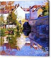 Beside The River - Grez Canvas Print