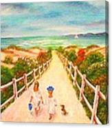 Beth And Johnny At The Beach Canvas Print
