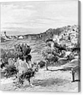 Bethlehem City In Black And White Canvas Print
