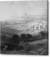 Bethlehem Engraving By William Miller Canvas Print