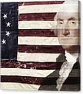 Betsey And George Flag Canvas Print