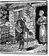 Bewick: Beggar Canvas Print