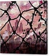Beyond The Chain Link Canvas Print
