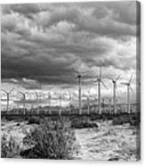 Beyond The Clouds Bw Canvas Print