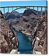 Beyond The Hoover Dam Spillway Canvas Print