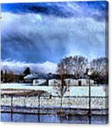 Bhs Softball Field Winter 2012 Full Canvas Print