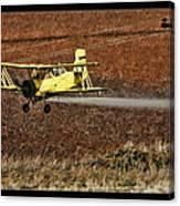 Bi Plane And Phone Pole Canvas Print