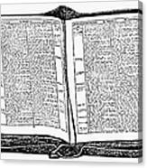 Bible, 19th Century Canvas Print