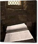 Bible In A Church, Rosedale, North Canvas Print