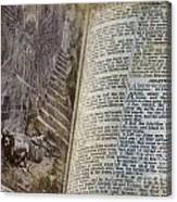 Bible Pages Canvas Print