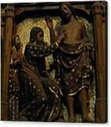 Biblical Scene At Notre Dame Paris Canvas Print