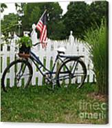 Bicycle And Picket Fence Canvas Print