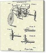 Bicycle Extension Frame 1903 Patent Art Canvas Print