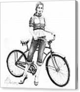 Bicycle Girl Canvas Print
