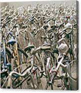 Bicycle Park In Beijing In China Canvas Print