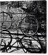 Bicycle Shadow 1 Canvas Print