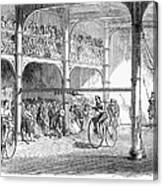 Bicycle Tournament, 1869 Canvas Print