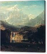 Bierstadt: Rockies Canvas Print