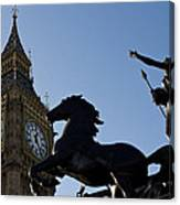 Big Ben And Boadicea Statue  Canvas Print
