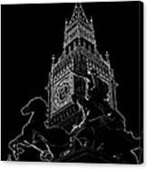 Big Ben And Boudica Statue Canvas Print