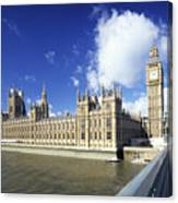 Big Ben And Houses Of Parliament, London, Uk Canvas Print