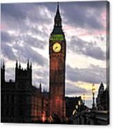 Big Ben Sunset Canvas Print