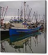 Big Blue Fishing Boat Canvas Print