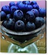 Big Bowl Of Blueberries Canvas Print