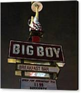 Big Boy At The Top Canvas Print