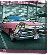 Big Pink Dodge Canvas Print