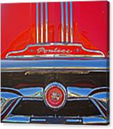 Big Red Pontiac Canvas Print