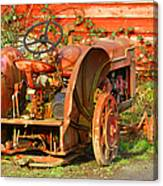 Big Red Tractor Canvas Print
