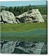 Big Rock Reflection Canvas Print