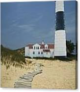 Big Sable Lighthouse In Ludington Michigan Number 3 Canvas Print