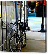 Bike - Scaffold - Lunchers - Water Color Conversion Canvas Print