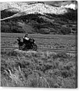 Bike Run Through Yellowstone Canvas Print