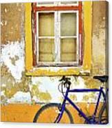 Bike Window Canvas Print