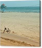 Biked To The Beach Canvas Print