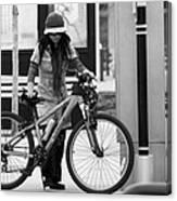 Biker Chick Canvas Print