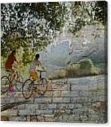 Bikes And Bricks Canvas Print