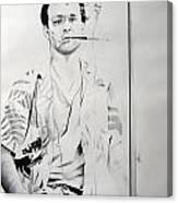 Bill Murray From The Movie 'where The Buffalo Roam' Canvas Print