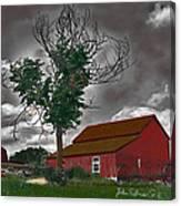 Bills Barn   Red Canvas Print