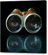 Binoculars With Eyes Looking At You Canvas Print