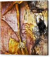 Birch Tree Bark No.0885 Canvas Print