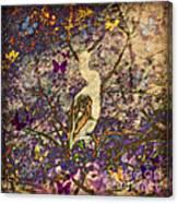 Bird And Butterflies Canvas Print