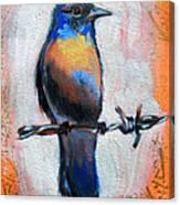 Bird On A Wire Canvas Print