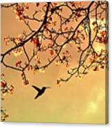 Bird Singing In The Morning Sky Canvas Print