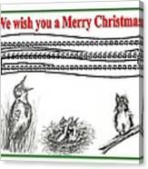 Bird Song For Christmas Canvas Print